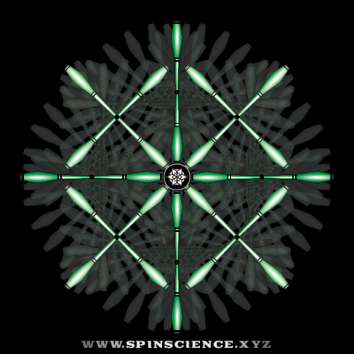 Spin Science 1 to 3 Flowers - 2 Petal Inspin and 4 Petal Antispin - Parallel Shapes