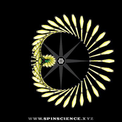 Spin Science - Club Flowers 13 - 1 Petal Inspin - Pointing Left