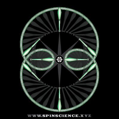 Spin Science - Club Flowers 17 - 2 Petal Inspin - Horizontal