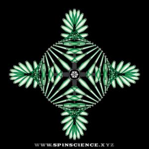 Spin Science - Club Flowers 18 - 4 Petal Antispin - Diamond