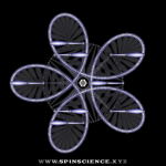 Spin Science - Club Flowers 30 - 5 Petal Antispin - Pointing Left