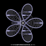 Spin Science - Club Flowers 32 - 5 Petal Antispin - Pointing Right