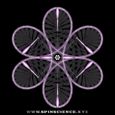 Spin Science - Club Flowers 34 - 6 Petal Antispin - Vertical