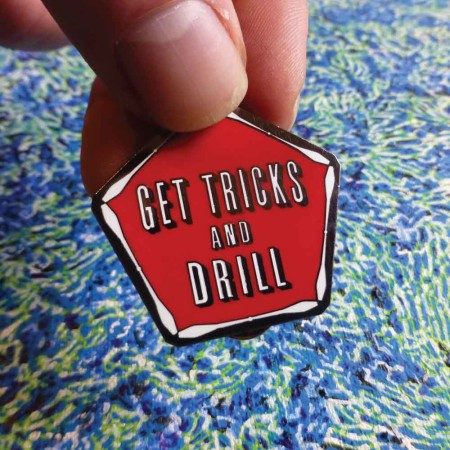 Get Tricks Pin by Spin Science- Clothing and Education for Jugglers, Hoopers, and Flow Artists 1000-3