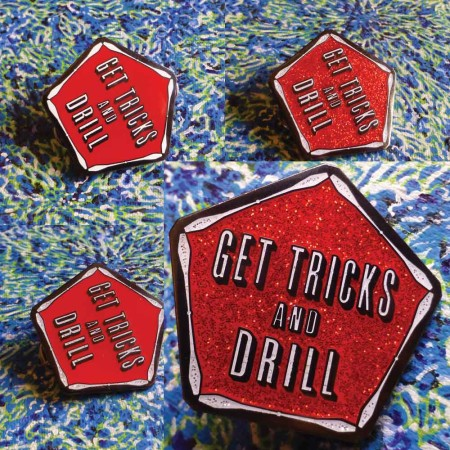 Get Tricks Pin by Spin Science- Clothing and Education for Jugglers, Hoopers, and Flow Artists 1000-6