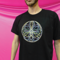 Spin Science- Clothing and Education for Jugglers and Flow Artists- Tech Poi, Hoop, Club, Fan, and Staff- Flower Mandala Shirt -1000-1
